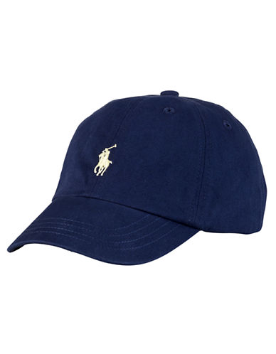 Ralph Lauren Childrenswear Embroidered Ventilating Cap-NEWPORT NAVY-One Size