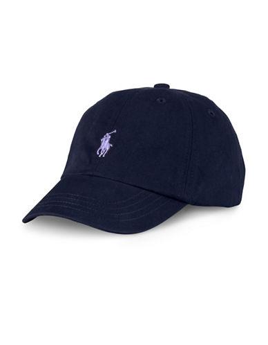 Ralph Lauren Childrenswear Cotton Slide Buckle Cap-NEWPORT NAVY-One Size
