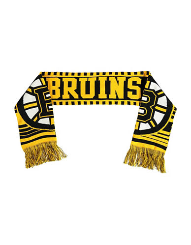 Reebok Boston Bruins Youth Fan Jacquard Scarf-YELLOW-One Size