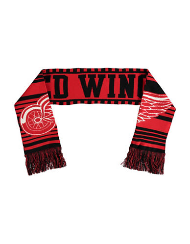 Reebok Detroit Red Wings Youth Fan Jacquard Scarf-RED-One Size