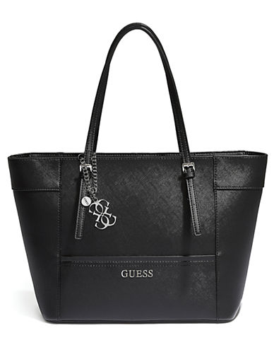 Guess Delaney Small Classic Tote-BLACK-One Size 86603871_BLACK_One Size