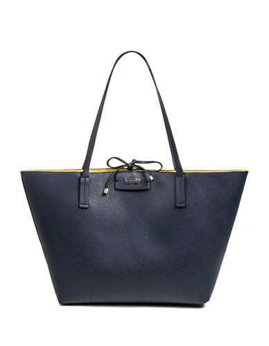 Guess Bobbi Inside-Out Tote Set-NAVY-One Size