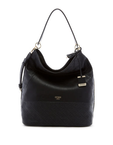 Guess Cammie Bucket Bag-BLACK-One Size