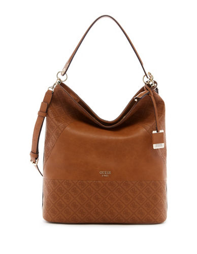 Guess Cammie Bucket Bag-COGNAC-One Size