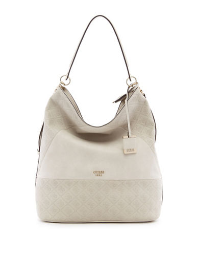 Guess Cammie Bucket Bag-BEIGE-One Size