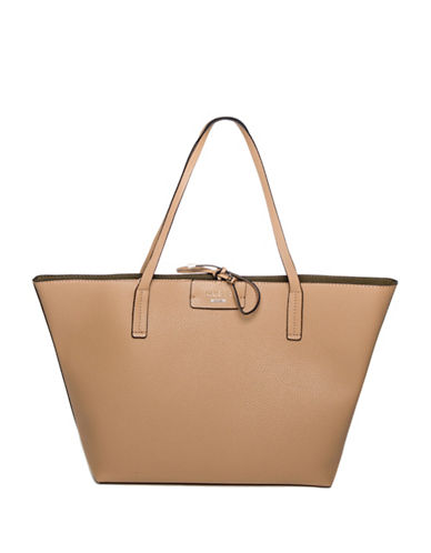 Guess Bobbi Inside-Out Tote Set-CAMEL-One Size