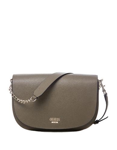 Guess Devyn Saddle Bag-OLIVE-One Size