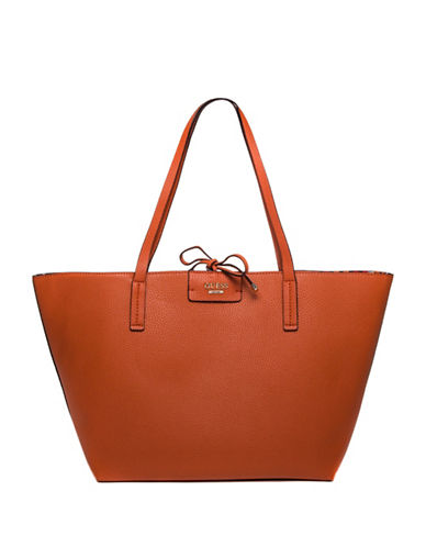 Guess Bobbi Inside-Out Tote Set-SPICE-One Size