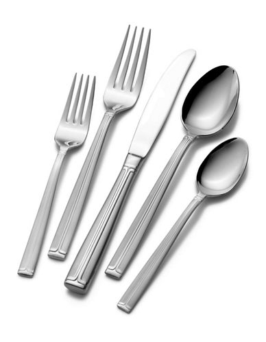 Mikasa Meridian Frost 65-Piece Flatware Set-SILVER-One Size
