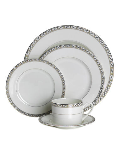 Mikasa Infinity Band 5 Piece Placesetting Set-WHITE-One Size