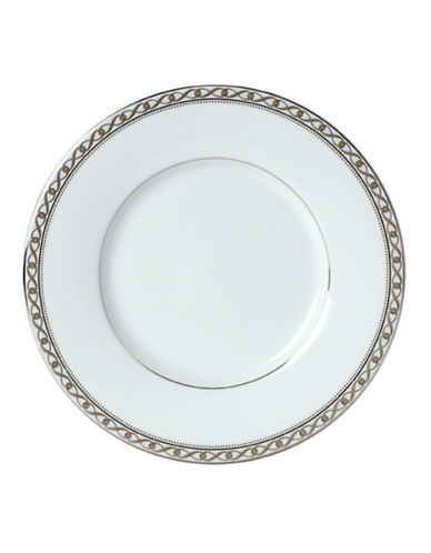 Mikasa Infinity Band Saucer-WHITE-One Size