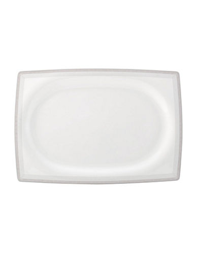 Mikasa Strada Rectangular Platter  15.5-WHITE-One Size