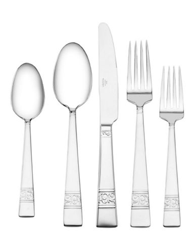 Mikasa Parchment 5 Piece Place Setting-SILVER-One Size