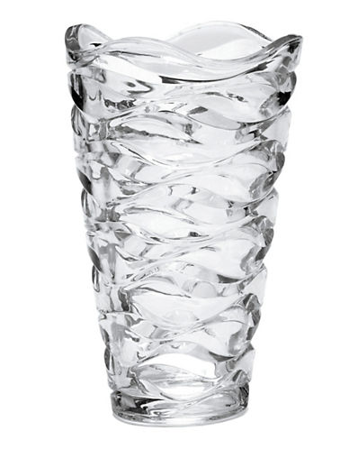 Mikasa Atlantic 11-inch Crystal Vase-CLEAR-One Size