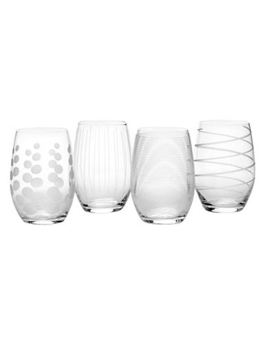 Mikasa Cheers Stemless Wine Glasses Set Of 4-CLEAR-One Size