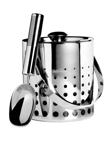 Mikasa Cheers Ice Bucket and Scoop-SILVER-One Size