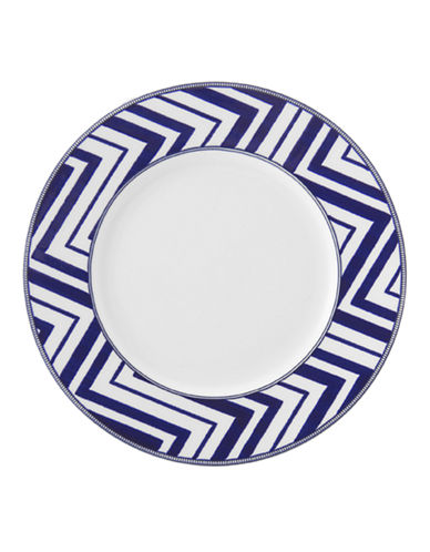 Mikasa Cadence Zigzag Salad Plate-COBALT-8.5 Inches