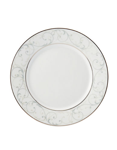 Mikasa Parchment Round Accent Plate-WHITE-One Size 86047516_WHITE_One Size
