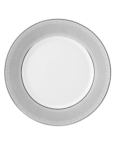 Mikasa Platinum Crown Round Accent Plate-WHITE-One Size