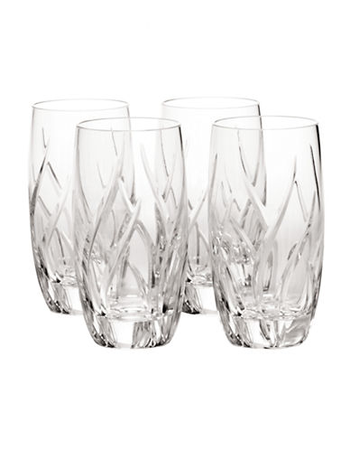 Mikasa Agena Hi-Ball Glass  Set of 4-CRYSTAL-One Size