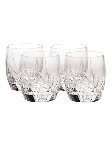 Mikasa Agena Doulbe Old Fashioned Glass  Set of 4-CRYSTAL-One Size