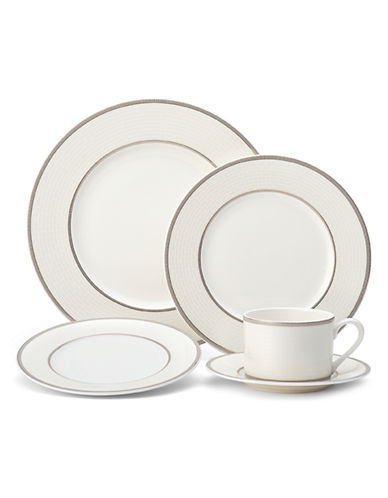 Mikasa Palazzo 5 Piece Place Setting-WHITE-One Size