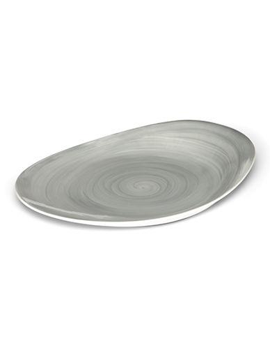 Mikasa Savona Beige 14in Oval Platter-GREY-One Size