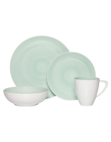 Mikasa Savona Teal 4 Piece Place Setting-TEAL-One Size
