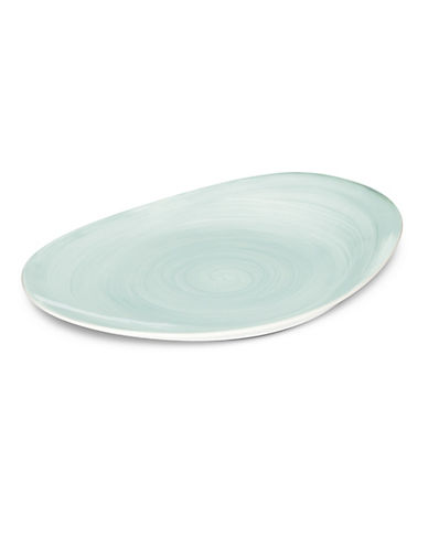 Mikasa Savona Beige 14in Oval Platter-TEAL-One Size