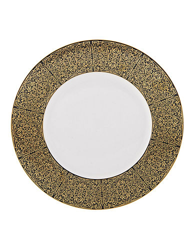 Mikasa Antonia Gold Dinner Plate-BLACK/GOLD-10.5in