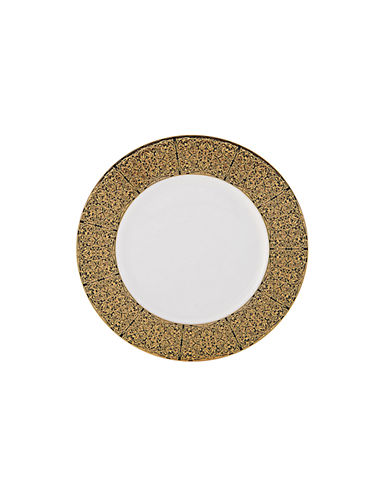 Mikasa Antonia Gold Bread and Butter Plate-BLACK/GOLD-One Size