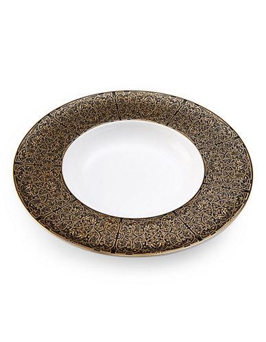 Mikasa Gold Rim Soup Bowl-BLACK/GOLD-One Size
