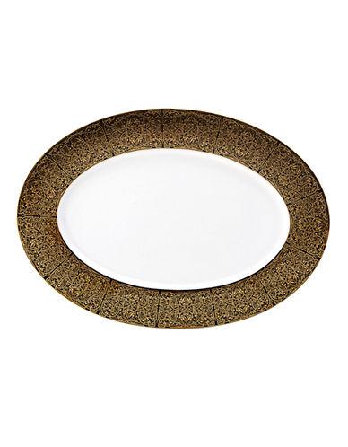 Mikasa Antonia Gold Oval Platter-BLACK/GOLD-One Size