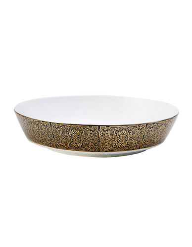 Mikasa Antonia Gold Vegetable Bowl-BLACK/GOLD-8.5 Inches