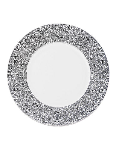 Mikasa Antonia Blanc Dinner Plate-WHITE/PLATINUM-10.5in