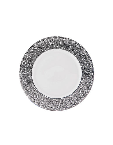 Mikasa Antonia Blanc Bread and Butter Plate-WHITE/PLATINUM-One Size