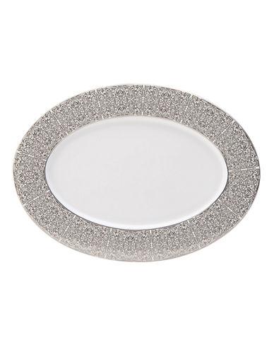 Mikasa Antonia Blanc Oval Platter-WHITE/PLATINUM-One Size