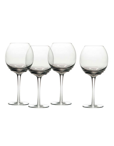 Mikasa Swirl Smoke Balloon Glass  Set of 4-GREY-One Size