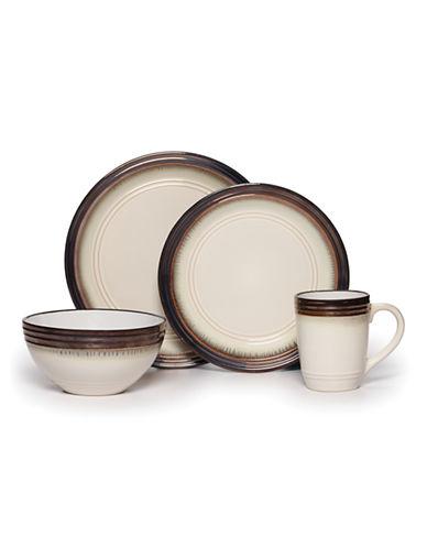Gourmet Basics By Mikasa Bailey 16-Piece Dinnerware Set-BROWN-One Size