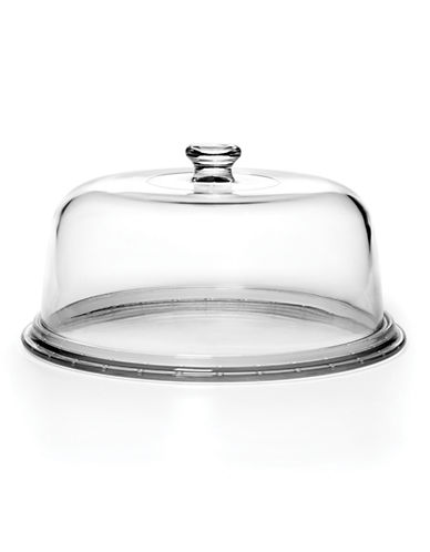 Mikasa Napoli Cake Plate with Dome-CLEAR-One Size