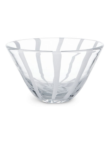 Mikasa White Ribbon Bowl-WHITE-One Size