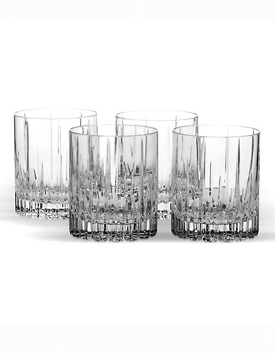 Mikasa Arctic Lights Double Old Fashioned Set of 4-CLEAR-One Size