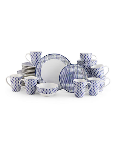Mikasa Avery Medley Blue 32 Piece Dinnerware Set-BLUE-One Size