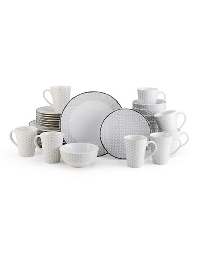 Mikasa Avery Medley Gray 32 Piece Dinnerware Set-GREY-One Size