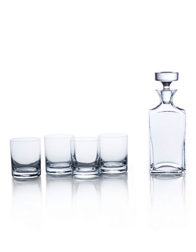 Mikasa Carson 5 Piece Square Decanter Set Boxed-CLEAR-One Size