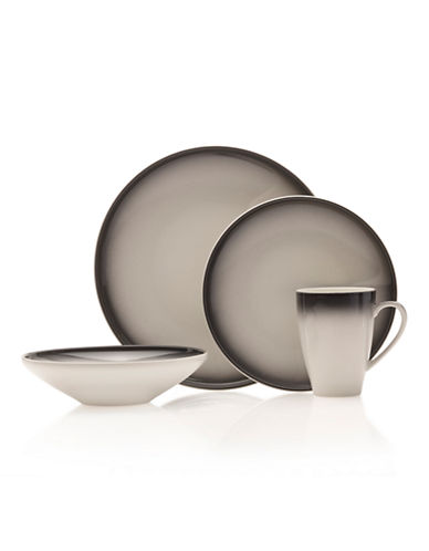 Mikasa Theo Charcoal 16-Piece Dinnerware Set-CHARCOAL-One Size