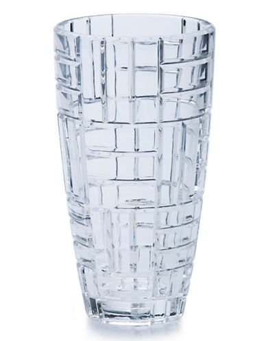 Mikasa Mosaic Glass Vase-CLEAR-11.75in