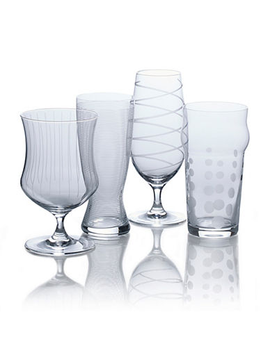 Mikasa Cheers Set of Four Craft Beer Varietal Glasses-CLEAR-Assorted