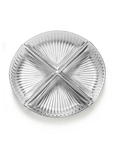 Mikasa Revel Four-Piece Glass Serve Plate-CLEAR-One Size