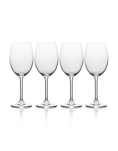 Mikasa Julie Four-Piece Stem White Wine Drinking Glass Set-CLEAR-One Size